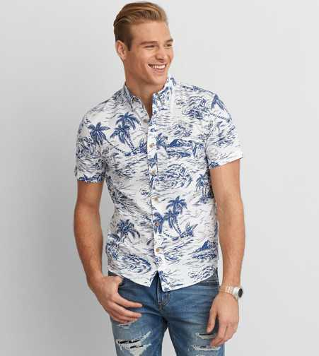 AEO Short Sleeve Poplin Shirt