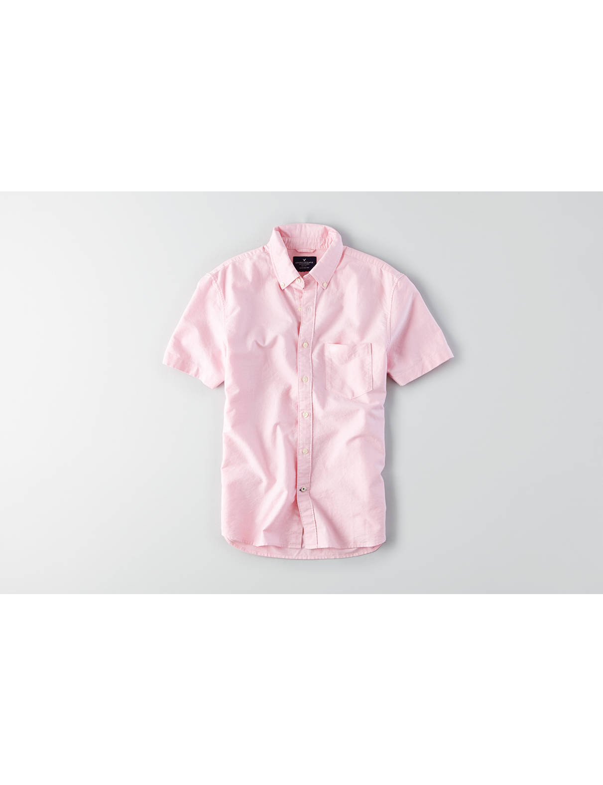 Display product reviews for AEO Solid Short Sleeve Shirt