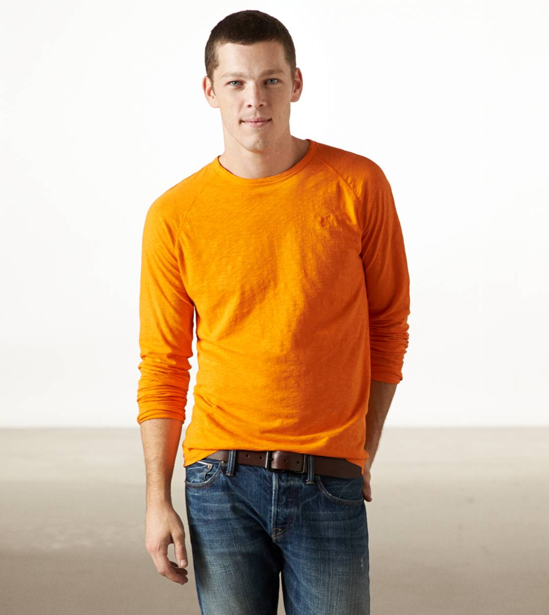 Orange AE Legend Long Sleeve T-Shirt