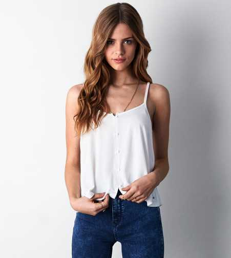 AEO Soft & Sexy Button Front Tank