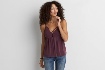 Soft & Sexy Sueded Peplum Tank