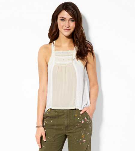 AE Crocheted Trim Tank - Buy One Get One 50% Off