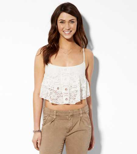 AE Cropped Lace Tank - Buy One Get One 50% Off