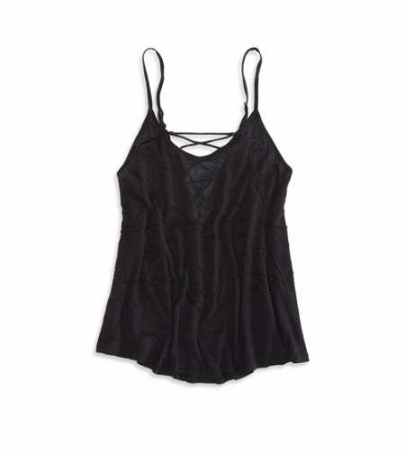 AEO Lace Embellished Tank - Check out the back!