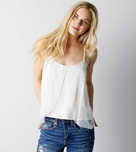 AEO Embroidered Floaty Cami - Buy One Get One 50% Off