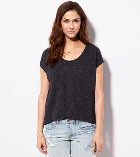 AE Zip Back Dolman T-Shirt