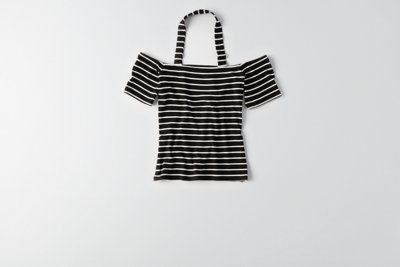 Soft & Sexy Ribbed Off-The-Shoulder T-Shirt