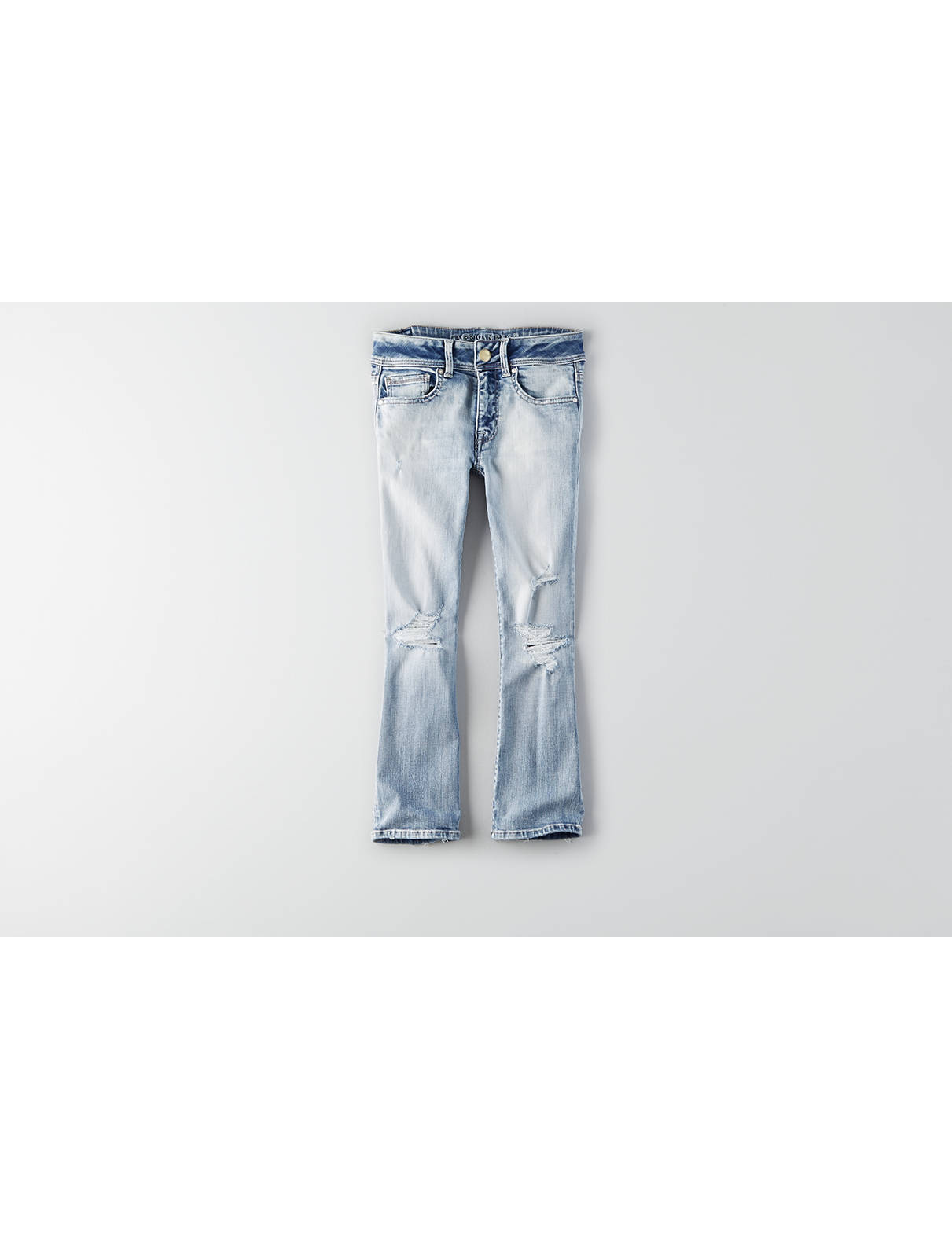 Display product reviews for AEO Denim X Kick Crop Jean