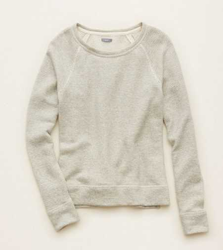 Aerie Shimmer Crew Sweater