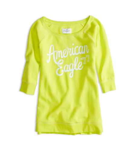 AEO Factory Signature Crew Sweatshirt