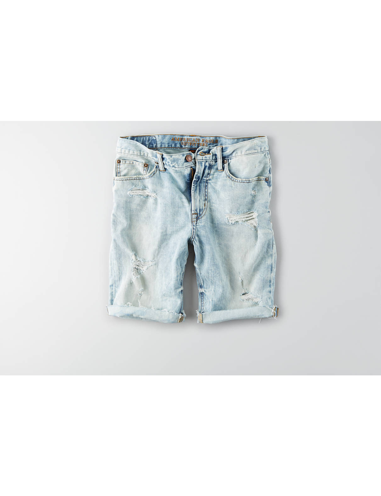 Display product reviews for AEO Core Flex Denim Cutoff Short
