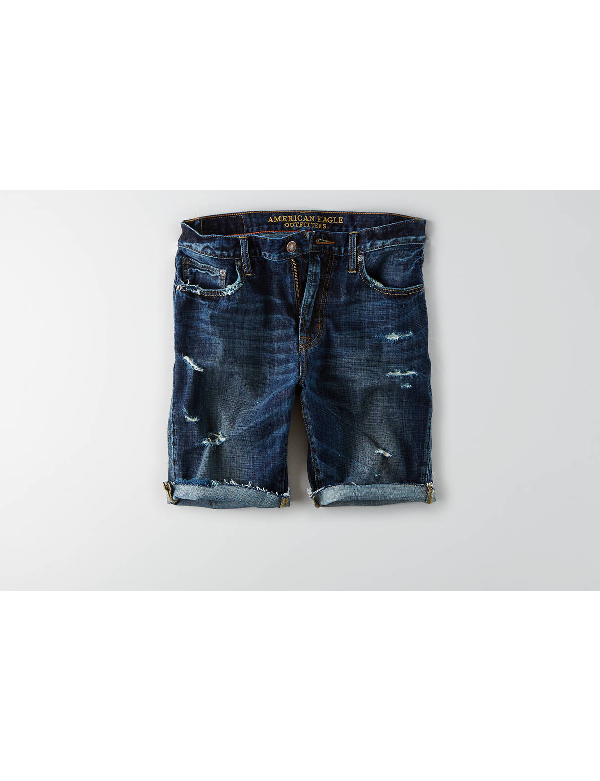 Display product reviews for AEO Denim Cutoff Short