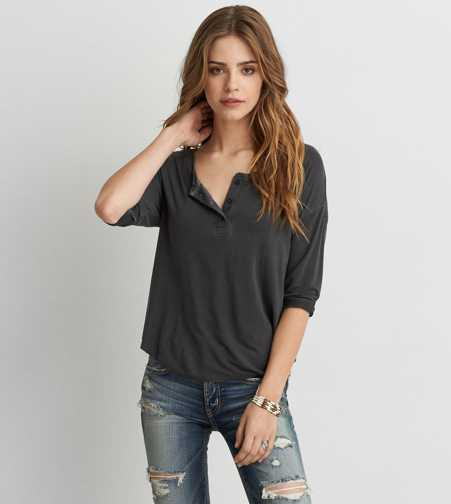 AEO Soft & Sexy Henley T-Shirt  - Buy One Get One 50% Off