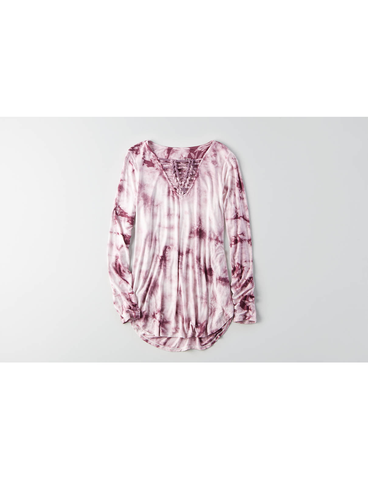 Display product reviews for AEO Soft & Sexy Knotted T-Shirt