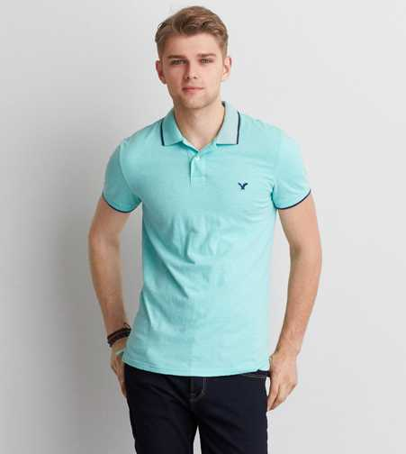AEO Slim Tipped T-Shirt Polo - Buy One Get One 50% Off