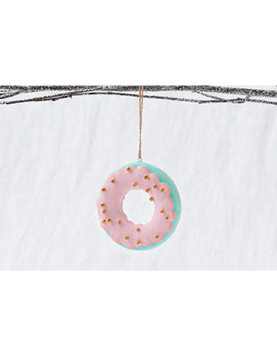 Glitterville Frosted Donut Ornament  -