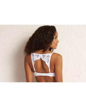 Brooke Lace Open Back Pushup Bra