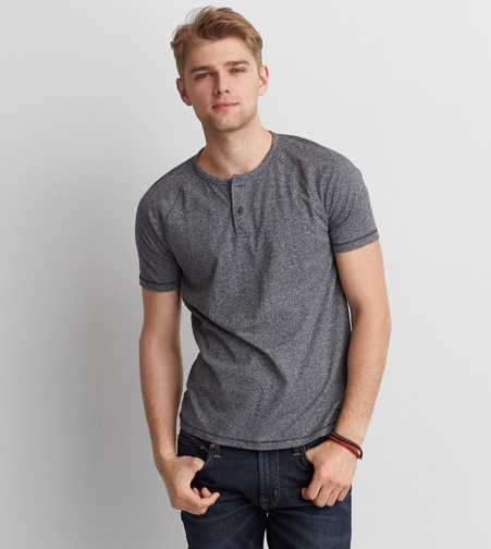 AEO Raglan Henley T-Shirt  - Buy One Get One 50% Off