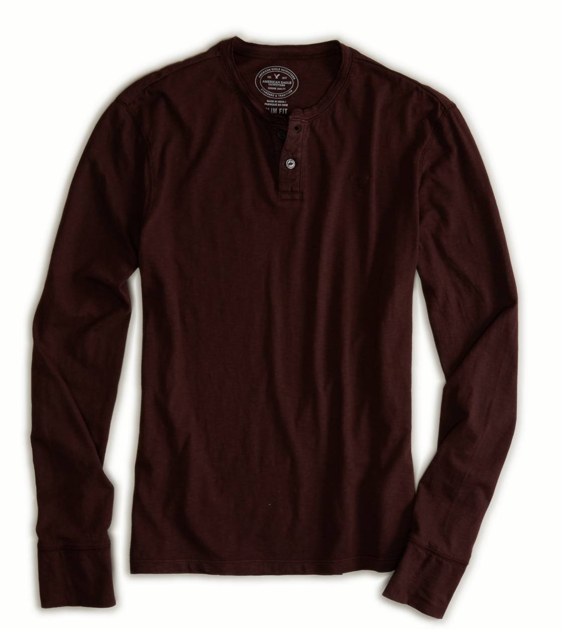 Ox Blood AE Legend Long Sleeve Henley
