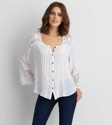 AEO Flowy Button Down Shirt