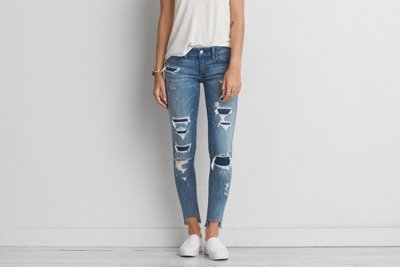 Jegging Denim X tiro supercorto