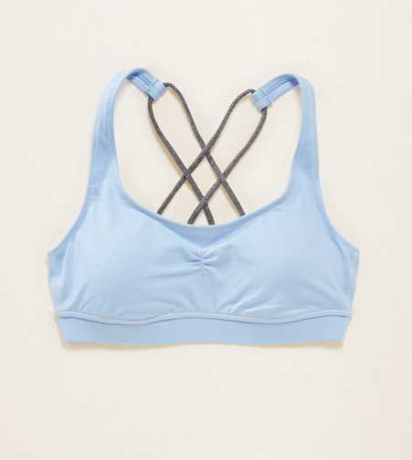 Aerie Lightly Lined Strappy Sports Bra  - Free Shipping & Returns