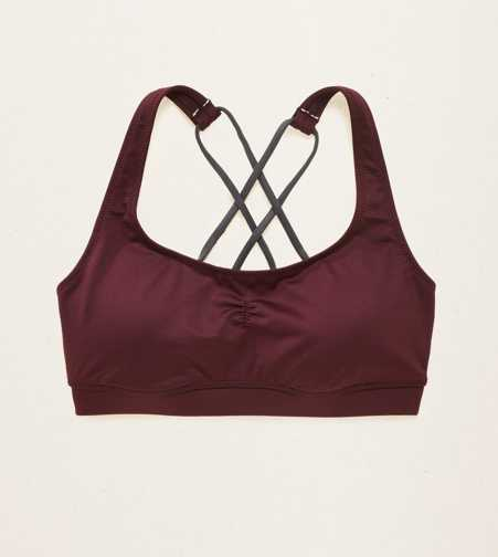 Aerie Lightly Lined Strappy Sports Bra  - Buy One Get One $5
