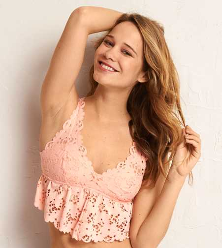Aerie Lace Flounce Bralette  - Free Shipping & Returns