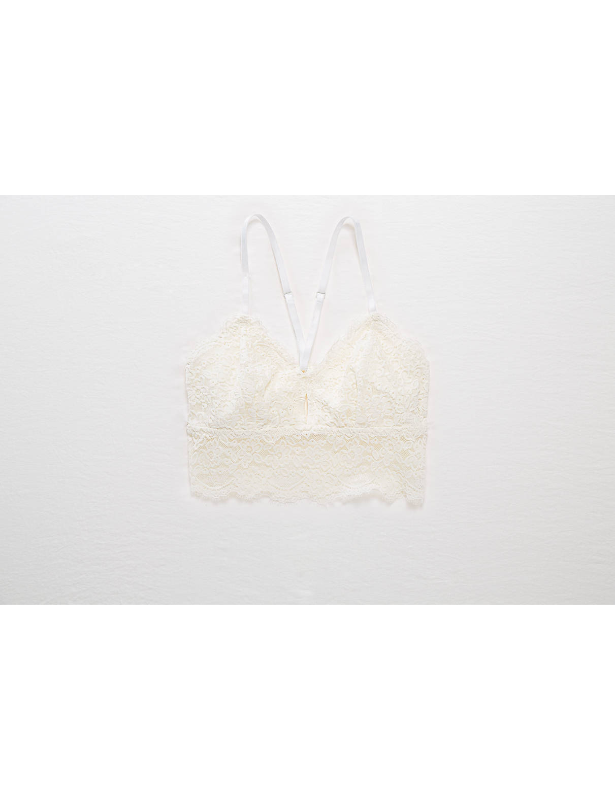 Display product reviews for Aerie Romantic Lace Keyhole Longline Bralette