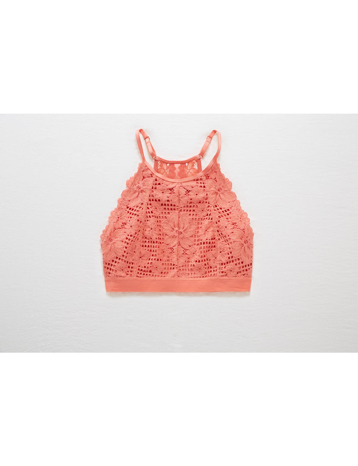 Display product reviews for Aerie Basket Weave Lace Hi-Neck Bralette