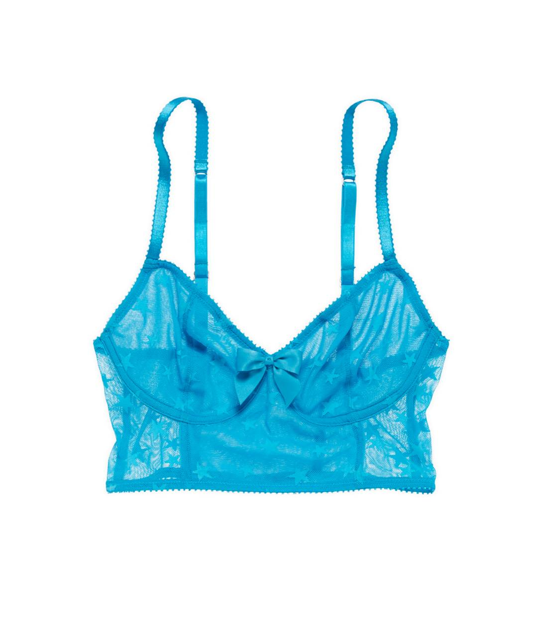 Basin Blue Aerie Star Collection Long Bralette