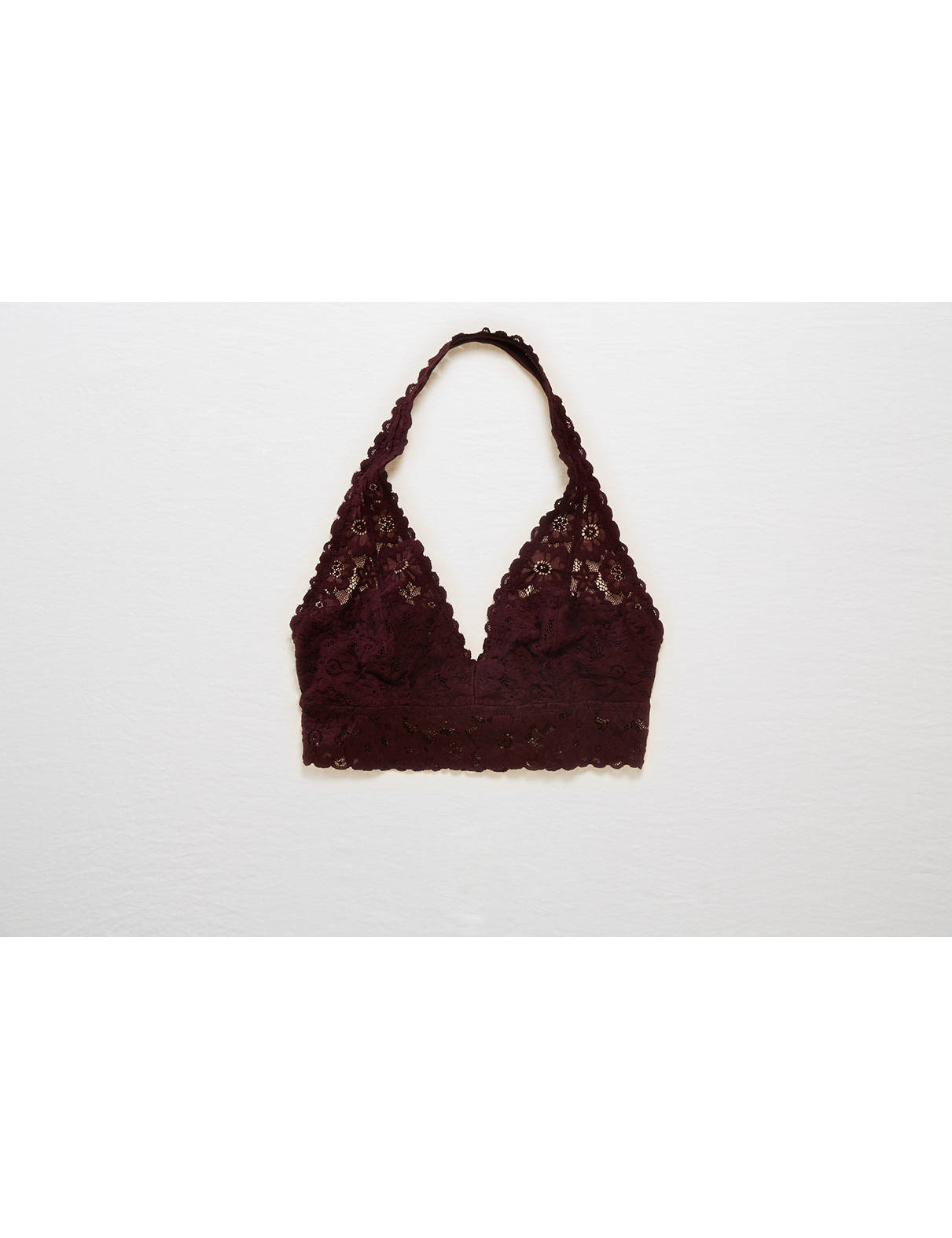 Display product reviews for Aerie Lace Halter Bralette