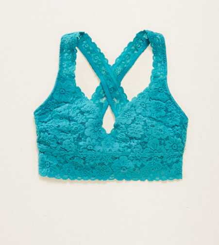 Aerie Lace Cross-Back Bralette  - Free Shipping & Returns
