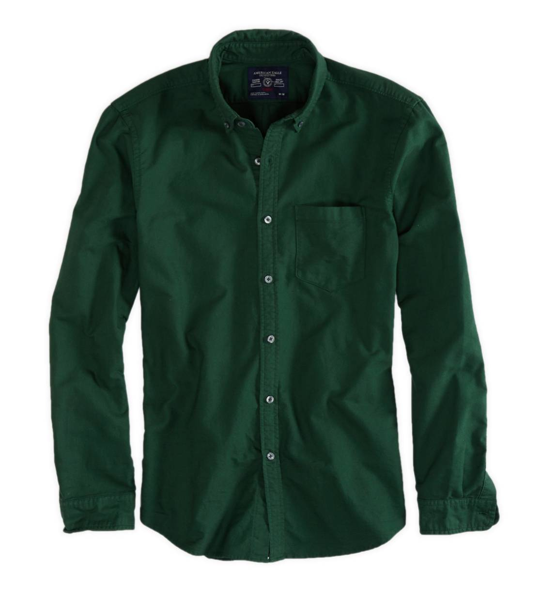 Olive AE Solid Oxford Shirt