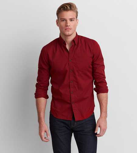 AEO Slim Button Down Shirt