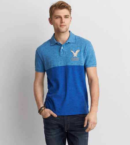 AEO Colorblock Icon Pique Polo - Buy One Get One 50% Off