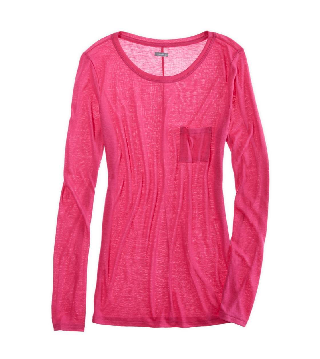 Pink Passion Aerie Comfiest Pocket T-Shirt