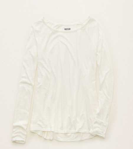 Aerie Flowy Sateen Side Tee