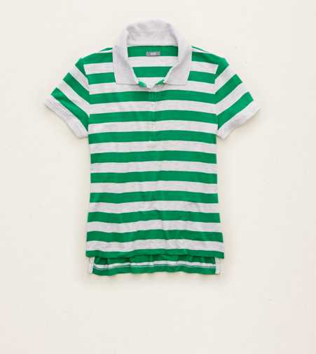 Aerie Striped Tennis Polo