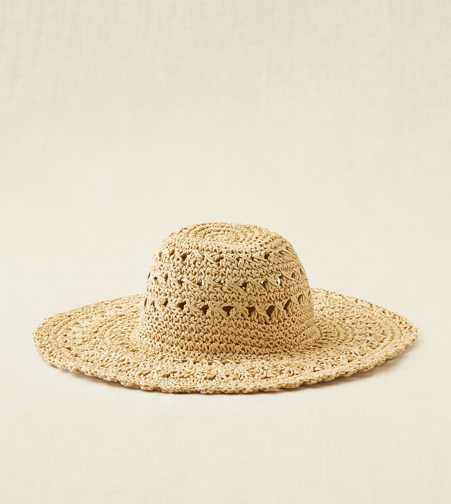 Aerie Crochet Floppy Hat