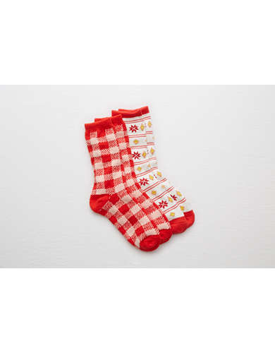 Aerie Extra Cozy Gift Socks 2-Pack -