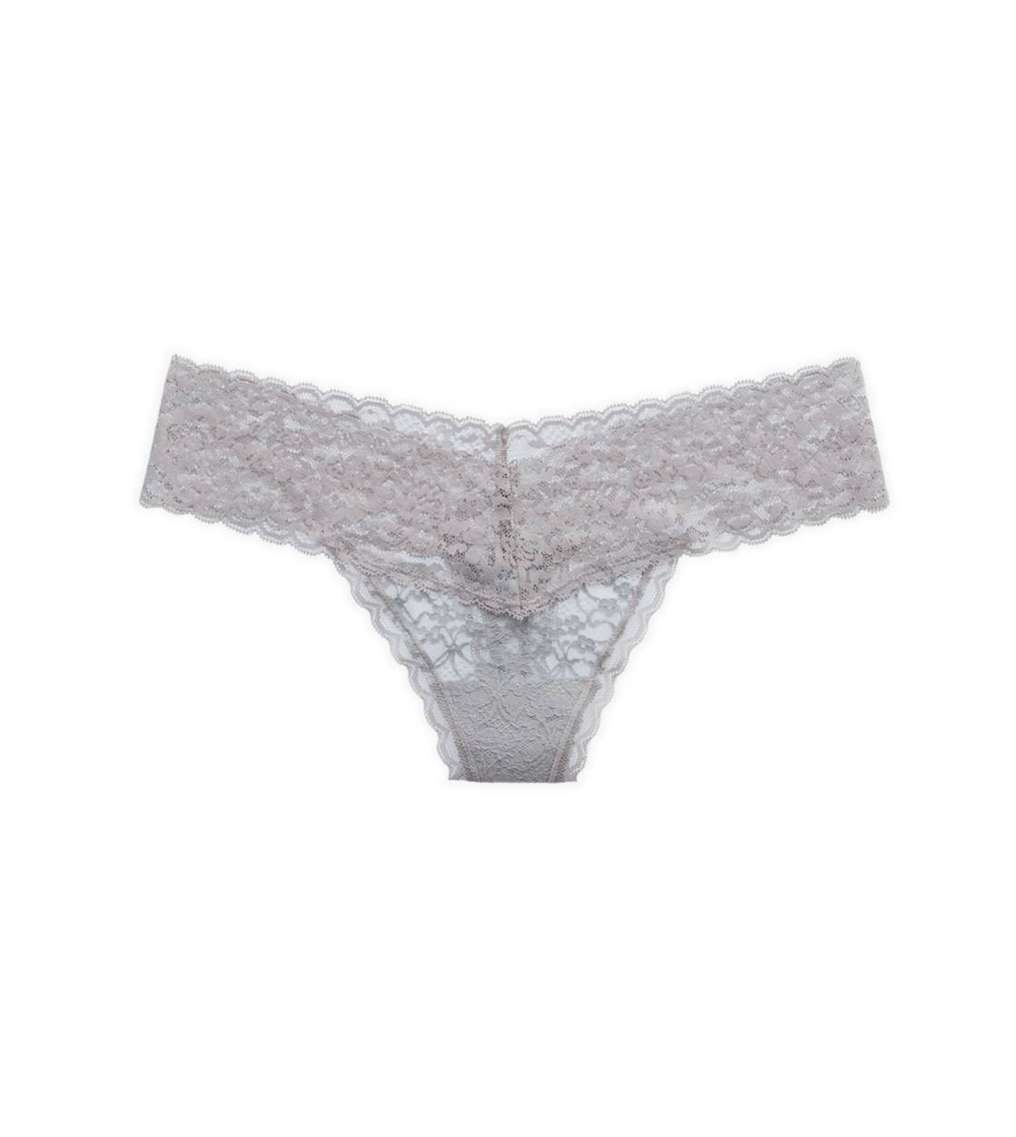 Slab Grey Aerie Vintage Lace Thong