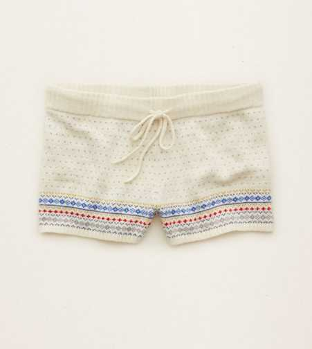 Aerie Fair Isle Sweater Short