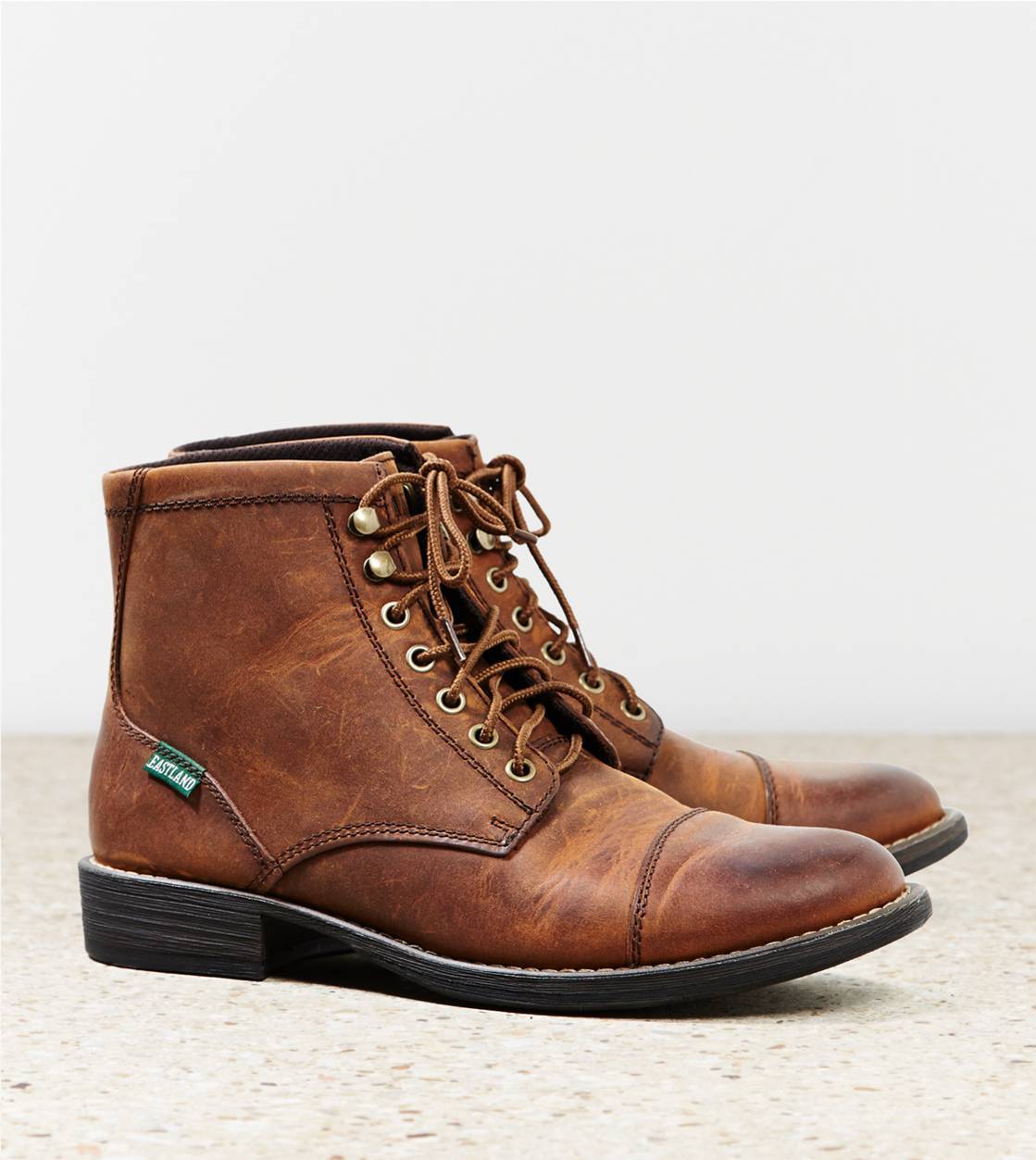 Tan Eastland High Fidelity Cap Toe Boot