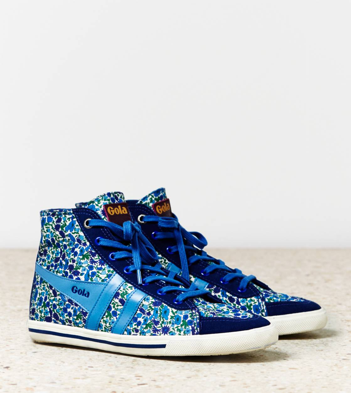 Dark Blue Gola Liberty Quota High Top Sneaker