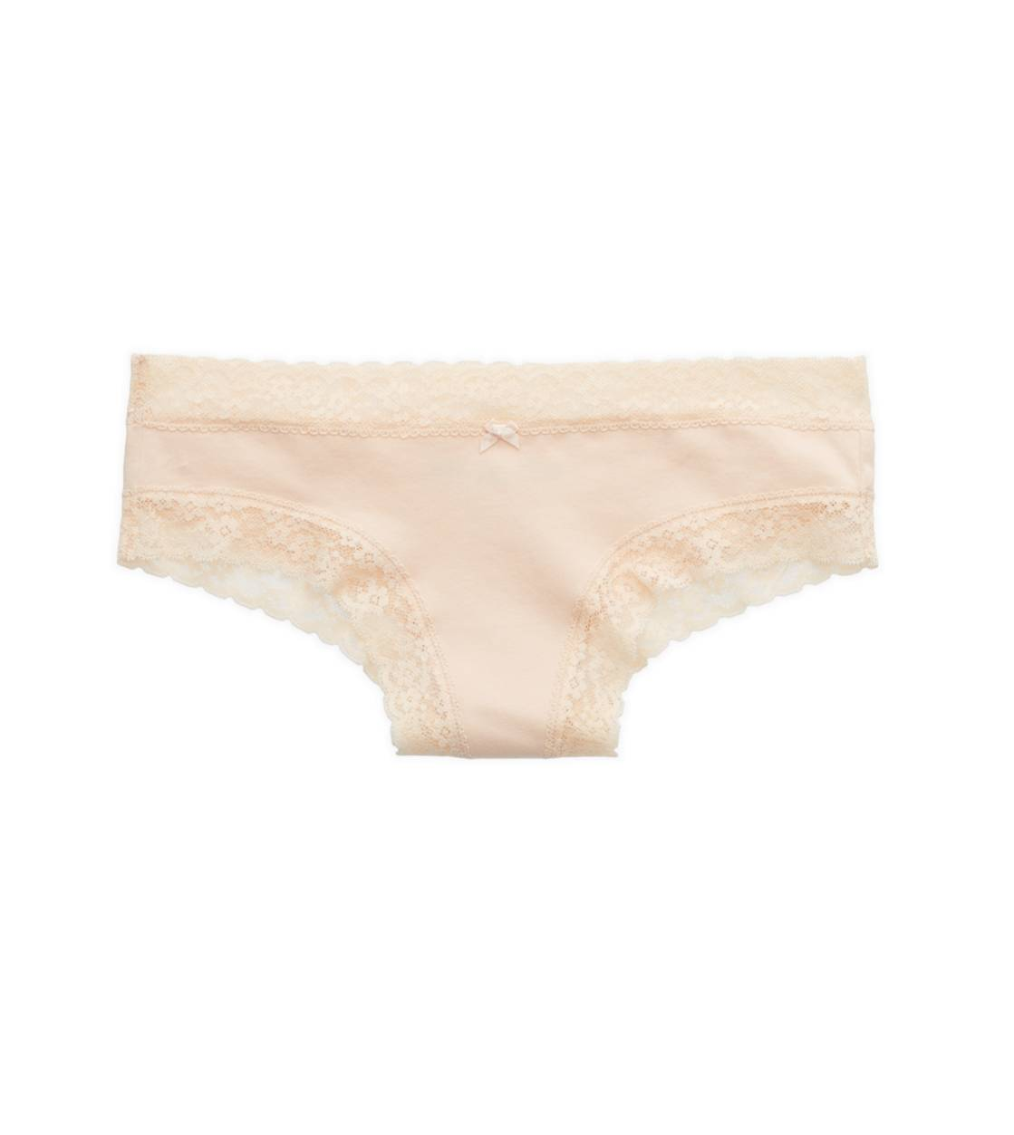 Buff Aerie Lace Trim Cheeky