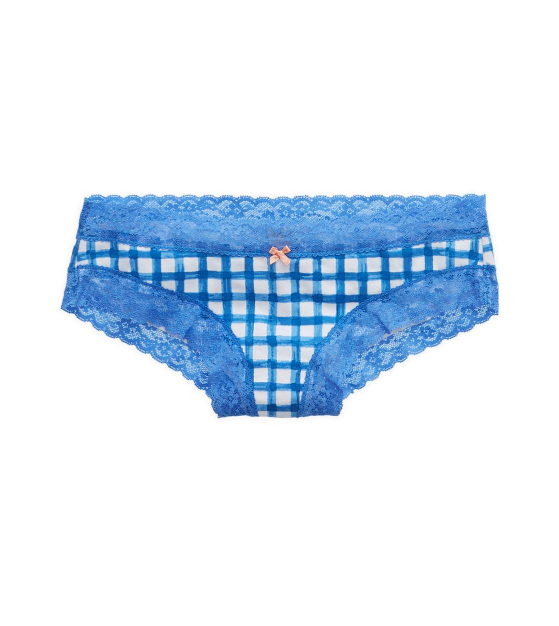 Rome Blue Aerie Lace Trim Cheeky