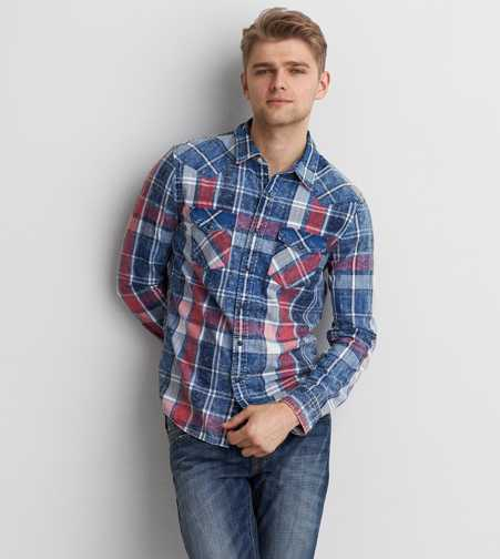 AEO Western Button Down Shirt